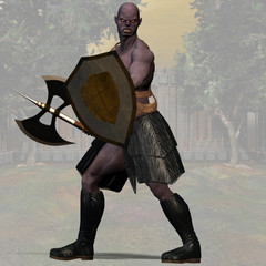 Orc Fantasy Series - Image with Clipping Path