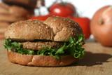 Vegetarian Soy Burger poster