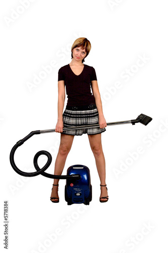 poster of girl with a vacuum cleaner