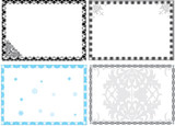 four geometrical frames poster