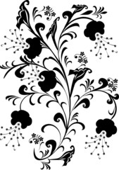 black foliage decoration