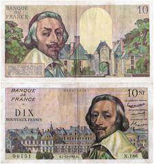 10 nouveaux francs Mazarin