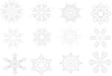 Snowflake contours poster