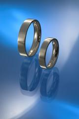 flat wedding bands