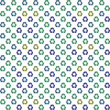 Recycle logo background (seamless repeat tile) poster