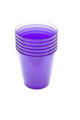 object on white - kitchen utensil - plastic cups