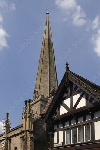 poster of The city of Hereford, town centre, Herefordshire,Midlands,