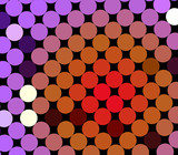 Colorful spot pattern on black for backdrops poster