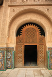 Decorative palace doorway in Morocco North Africa. poster