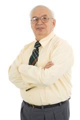 Waist up portrait of successful mature businessman