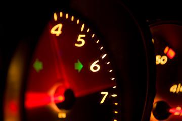 Glowing Tachometer