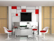 Modern interior of office exclusive design.