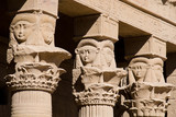 Columns cared with the goddess Hathor poster