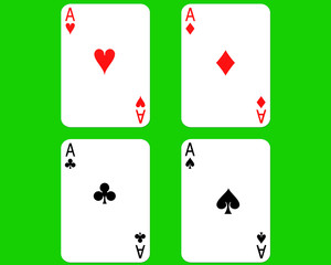 computer generated image of cards