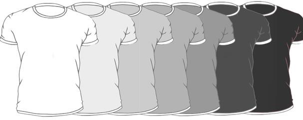 t-shirts cinzentas
