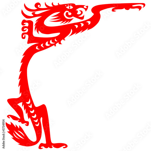 Paper cut dragon