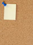 cork board with thumb tack or push pin poster