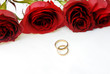 Photo for Valentine day with roses and wedding rings