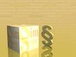 Impressum im 3D Kasten und Paragrapf