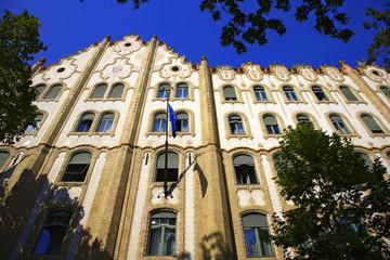 batment art nouveau de la caisse d'épargne, budapest