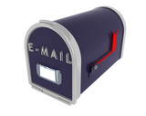 3D render of a mail box poster
