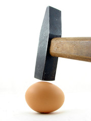 Hammer and egg isolated