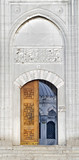 Detail from entrance of New Mosque, in Istanbul Turkey poster