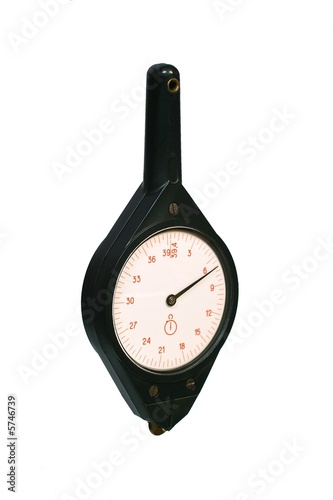 Old plastic curvimeter. Isolated image on white background.
