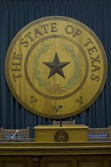 texas state emblem in capitol