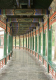 The famous Covered Walkway in the Summer Palace, Beijing poster