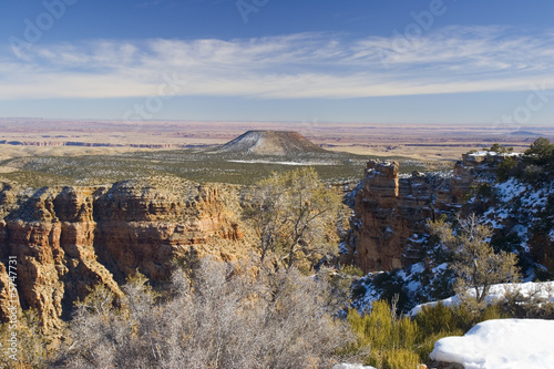 Tuinposter Canyon Grand Canyon in Winter as seen from Desert View Point, Arizona