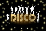 disco gold poster