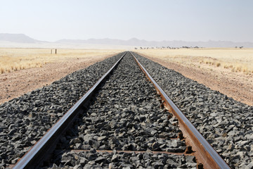 Bahnlinie in Namibia