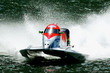 striking hi speed motor boat in action - 5749715