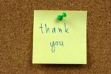 Office cork bulletin board. Gratitude concept. poster