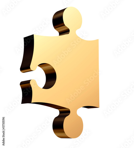 3D golden puzzle the missing piece needed