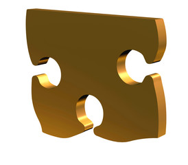 3D puzzle in gold with room for text