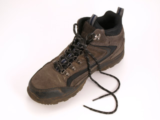 Hiking boot with laces