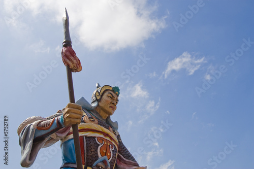 chinese dynasty warrior statue