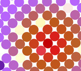 Colorful spot pattern on white for backdrops poster