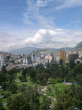 Panorama of Quito, capital of Ecuador, portrait poster