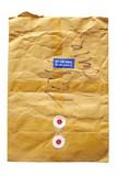 Brown postal envelope poster