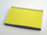 Yellow ruled flip note book 1 poster