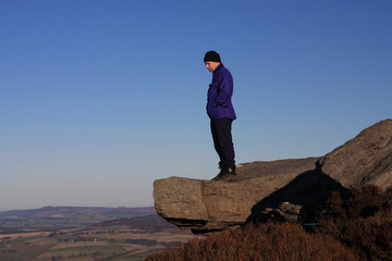 Walking the Simonside hills on a crisp cold  winters day