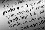 Profit word dictionary term. Tint image with any color. poster