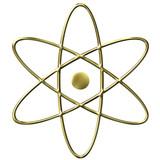 3D Golden Atom Symbol poster