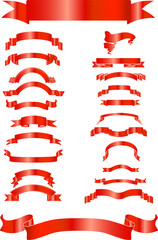 red ribbons vector graphics