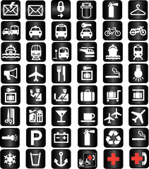 tourist locations icon - vector