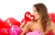 woman with lollipop love