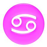 Cancer 3D Pink Gel Framed  poster